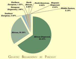 Esempio di grafico a torta relativo alla scoperta ancestrale